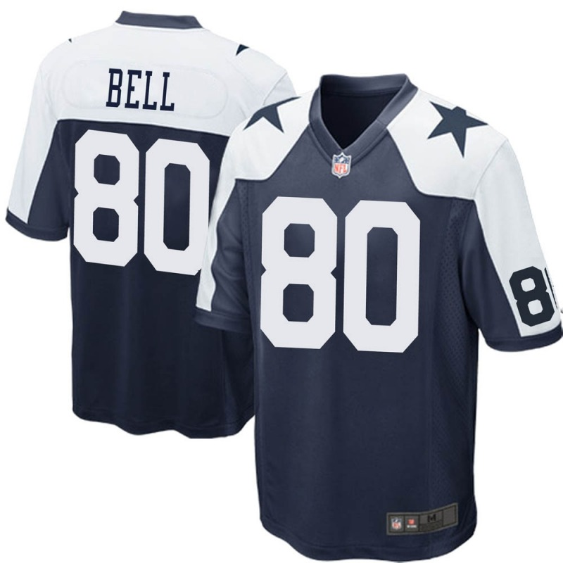 Wholesale 2020 Nike NFL Youth Dallas Cowboys 80 Blake Bell Navy Blue Game Throwback Jersey