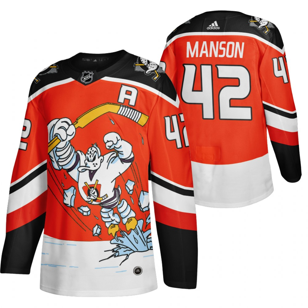 Cheap 2021 Adidias Anaheim Ducks 42 Josh Manson Red Men Reverse Retro Alternate NHL Jersey