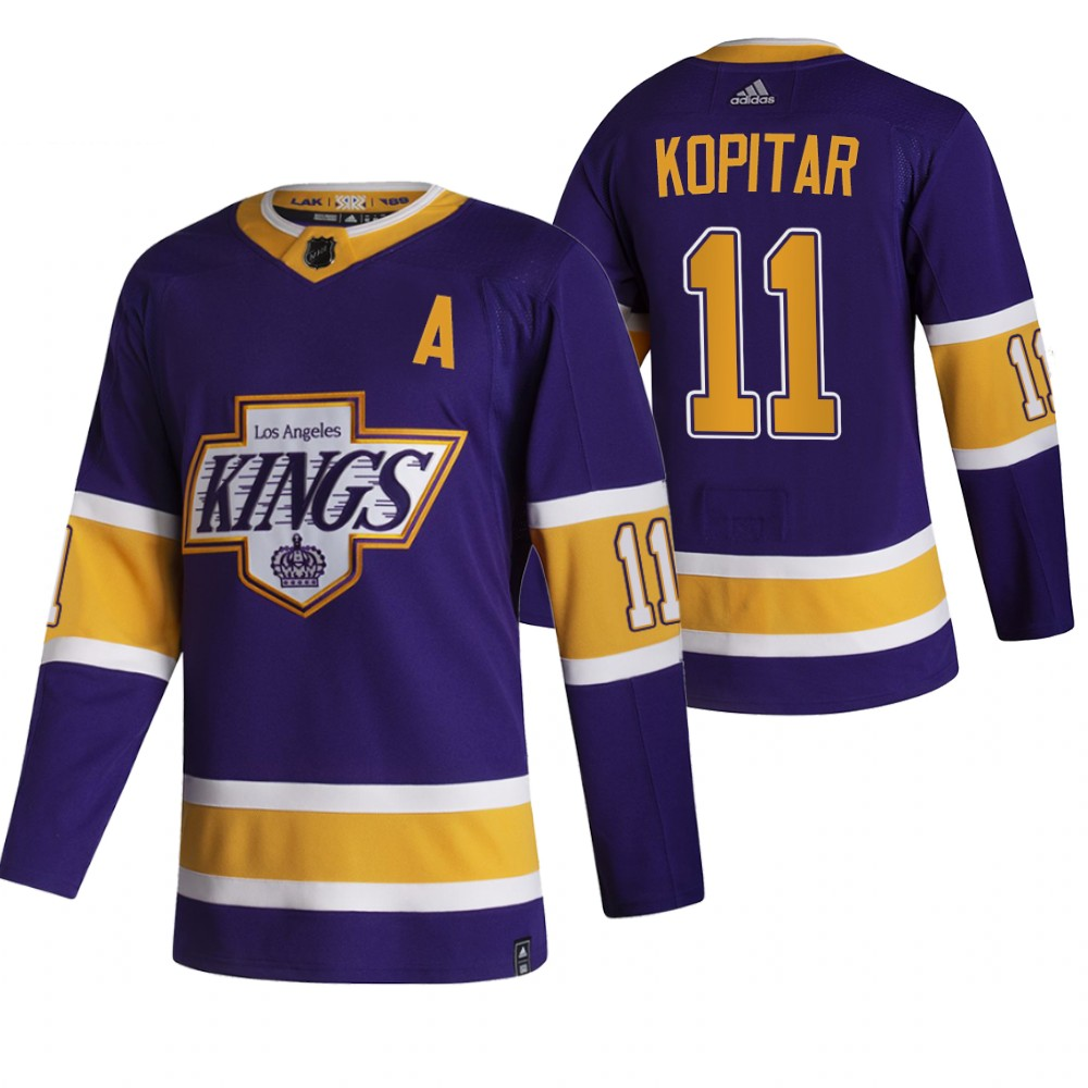 Wholesale 2021 Adidias Los Angeles Kings 11 Anze Kopitar Black Men Reverse Retro Alternate NHL Jersey