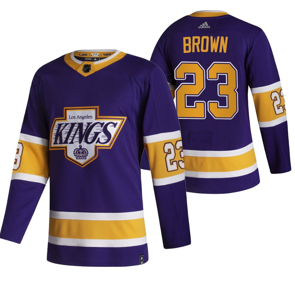 Wholesale 2021 Adidias Los Angeles Kings 23 Dustin Brown Black Men Reverse Retro Alternate NHL Jersey