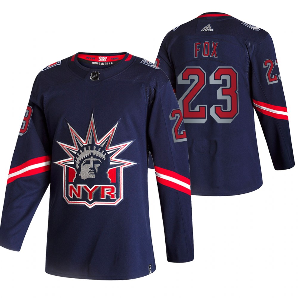 Cheap 2021 Adidias New York Rangers 23 Adam Fox Navy Men Reverse Retro Alternate NHL Jersey