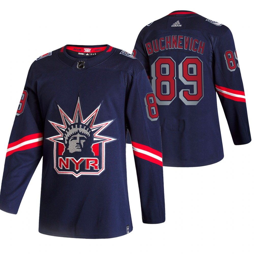 Cheap 2021 Adidias New York Rangers 89 Pavel Buchnevich Navy Men Reverse Retro Alternate NHL Jersey