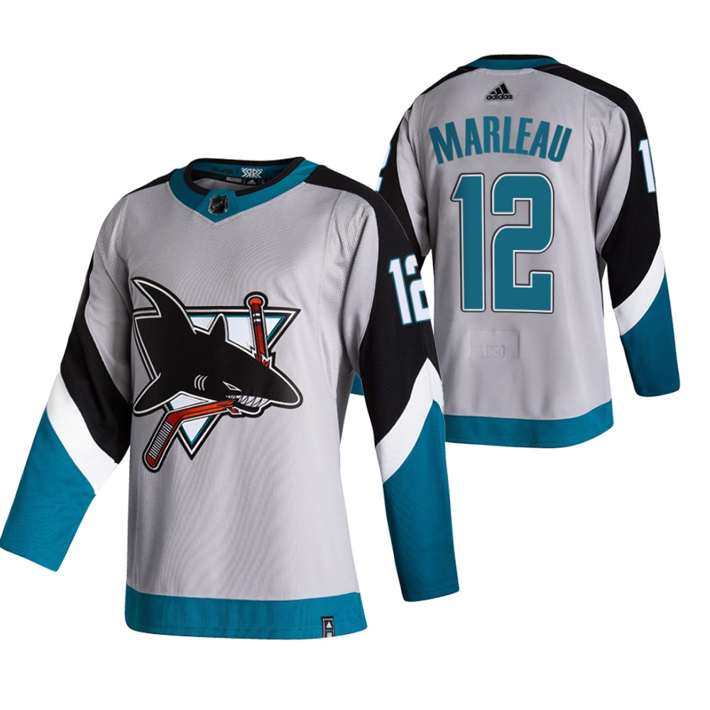 Cheap 2021 Adidias San Jose Sharks 12 Patrick Marleau Grey Men Reverse Retro Alternate NHL Jersey