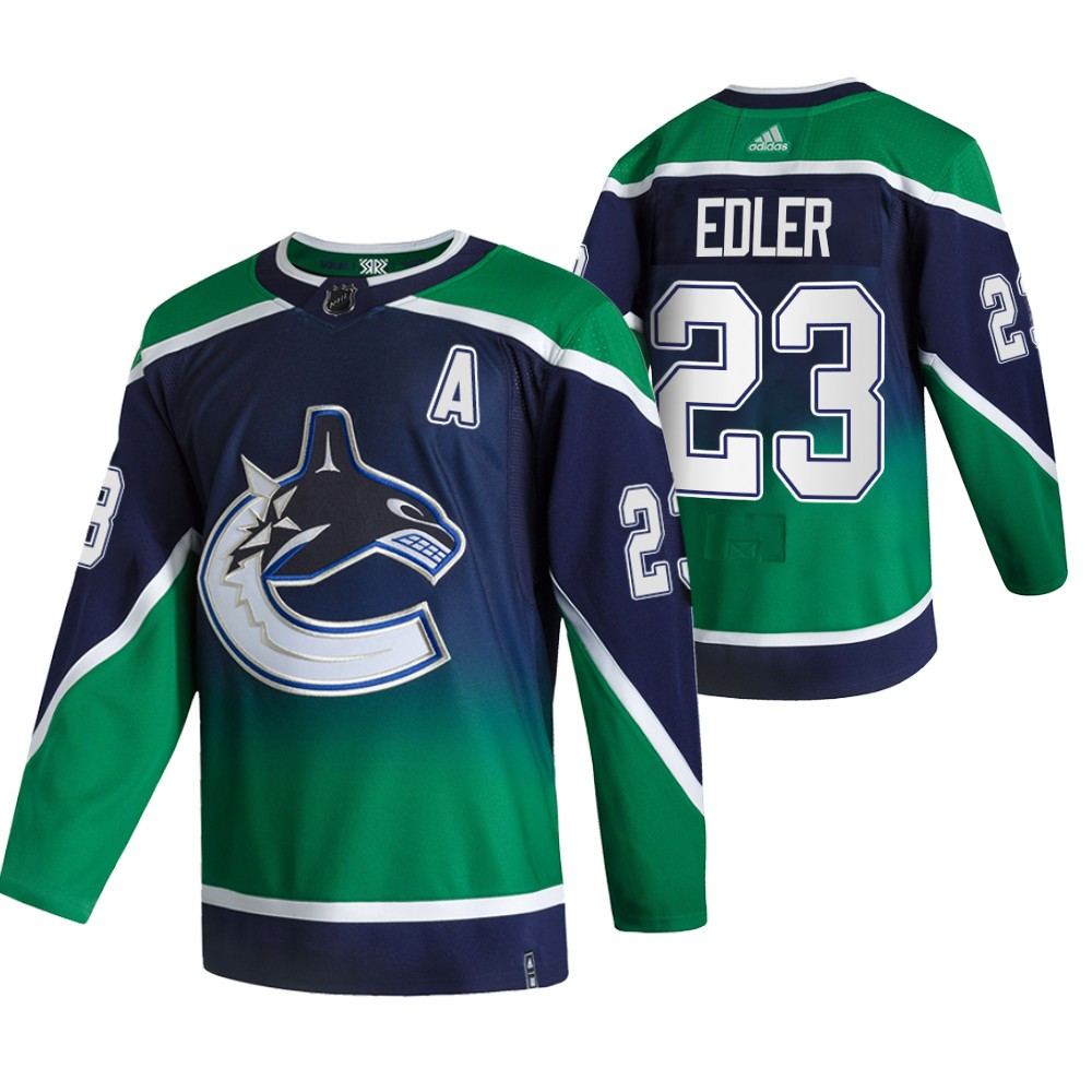 Cheap 2021 Adidias Vancouver Canucks 23 Alexander Edler Green Men Reverse Retro Alternate NHL Jersey