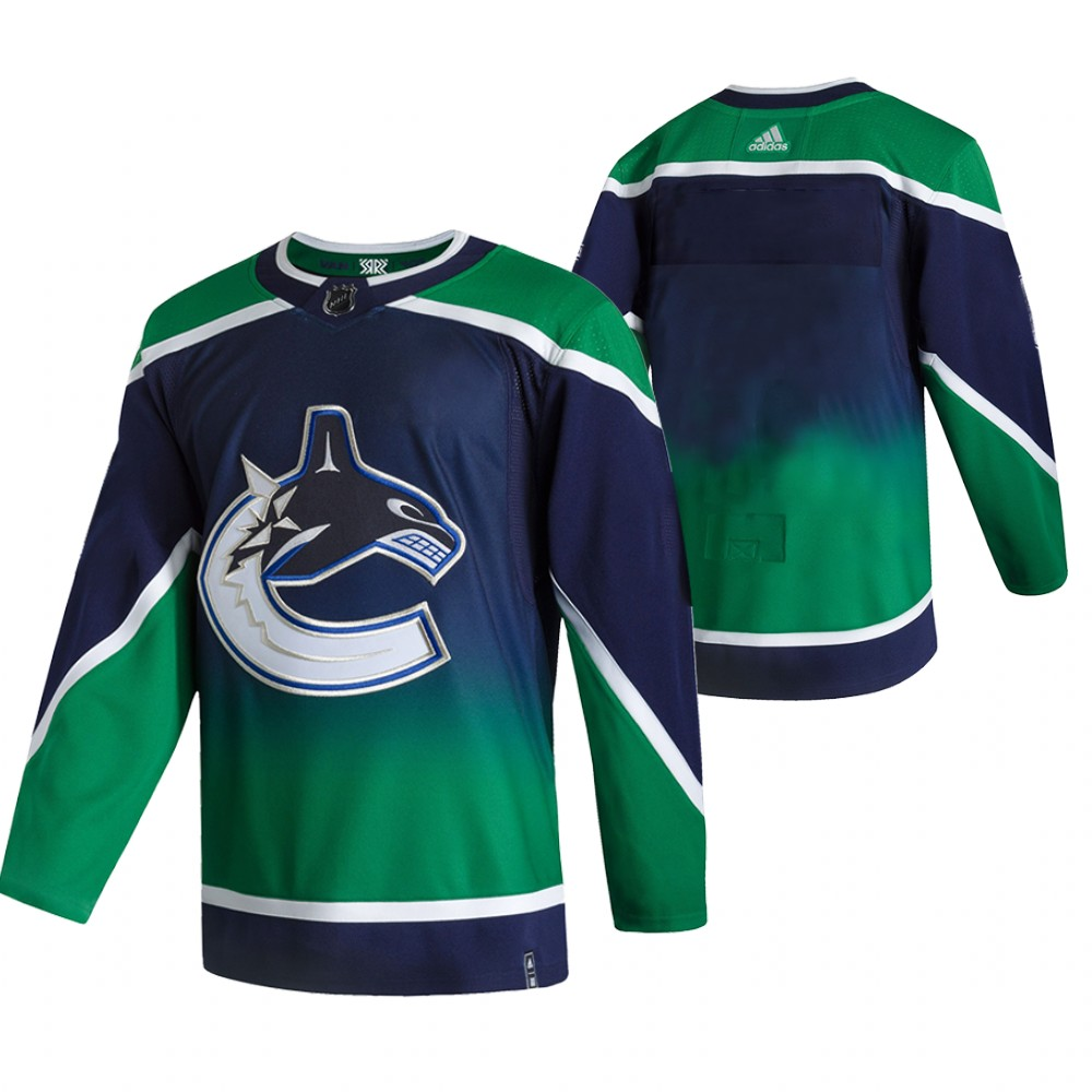 Cheap 2021 Adidias Vancouver Canucks Blank Green Men Reverse Retro Alternate NHL Jersey