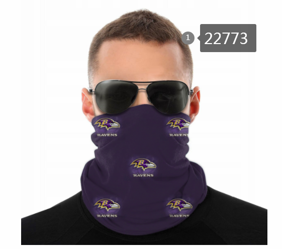 Wholesale 2021 NFL Baltimore Ravens 152 Dust mask with filter