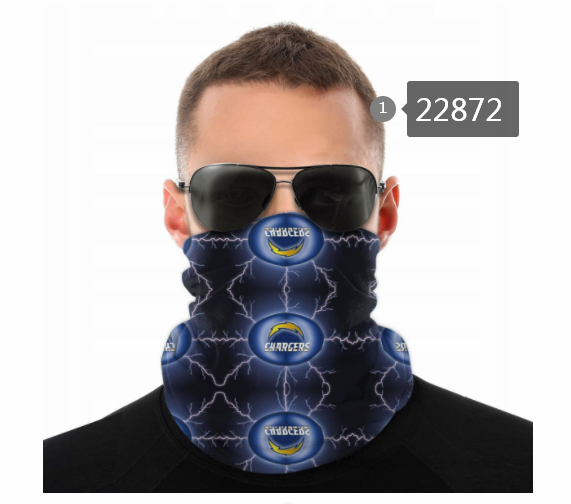 Wholesale 2021 NFL Los Angeles Chargers 56 Dust mask with filter