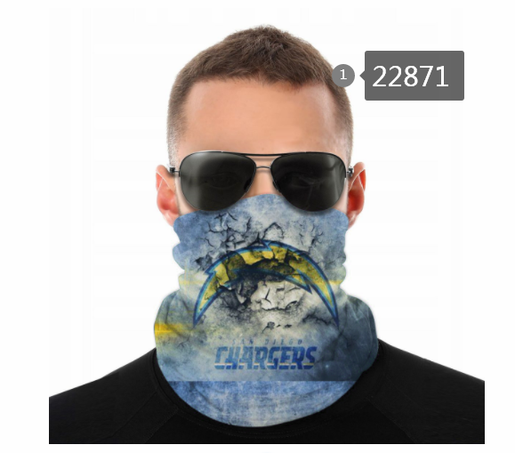 Wholesale 2021 NFL Los Angeles Chargers 57 Dust mask with filter