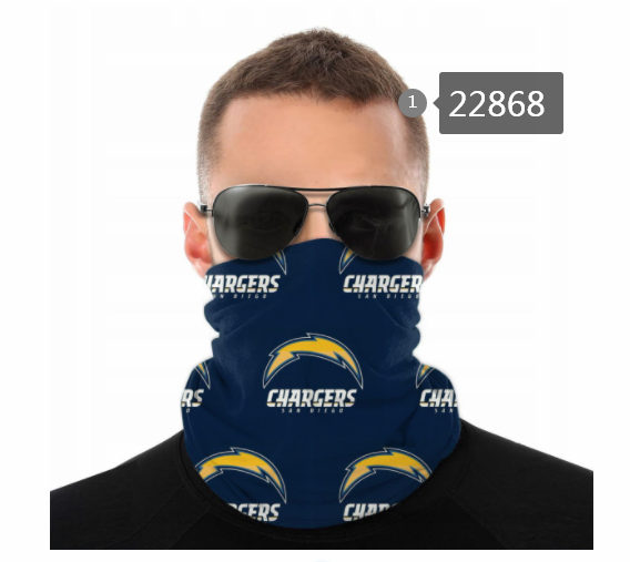 Wholesale 2021 NFL Los Angeles Chargers 60 Dust mask with filter