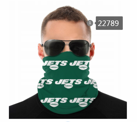 Wholesale 2021 NFL New York Jets 136 Dust mask with filter
