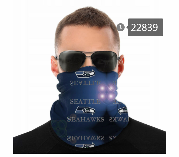 Wholesale 2021 NFL Seattle Seahawks 87 Dust mask with filter