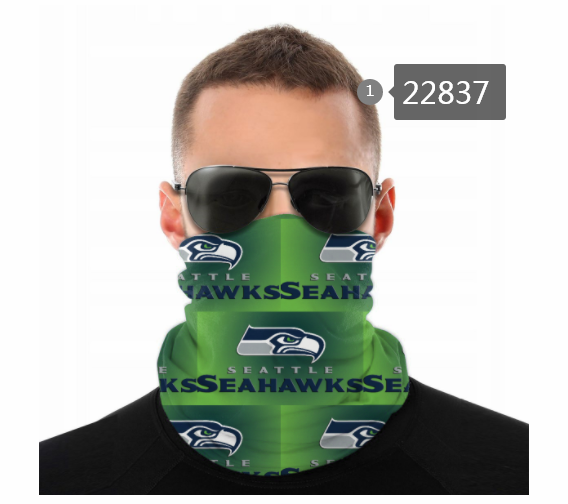 Wholesale 2021 NFL Seattle Seahawks 89 Dust mask with filter