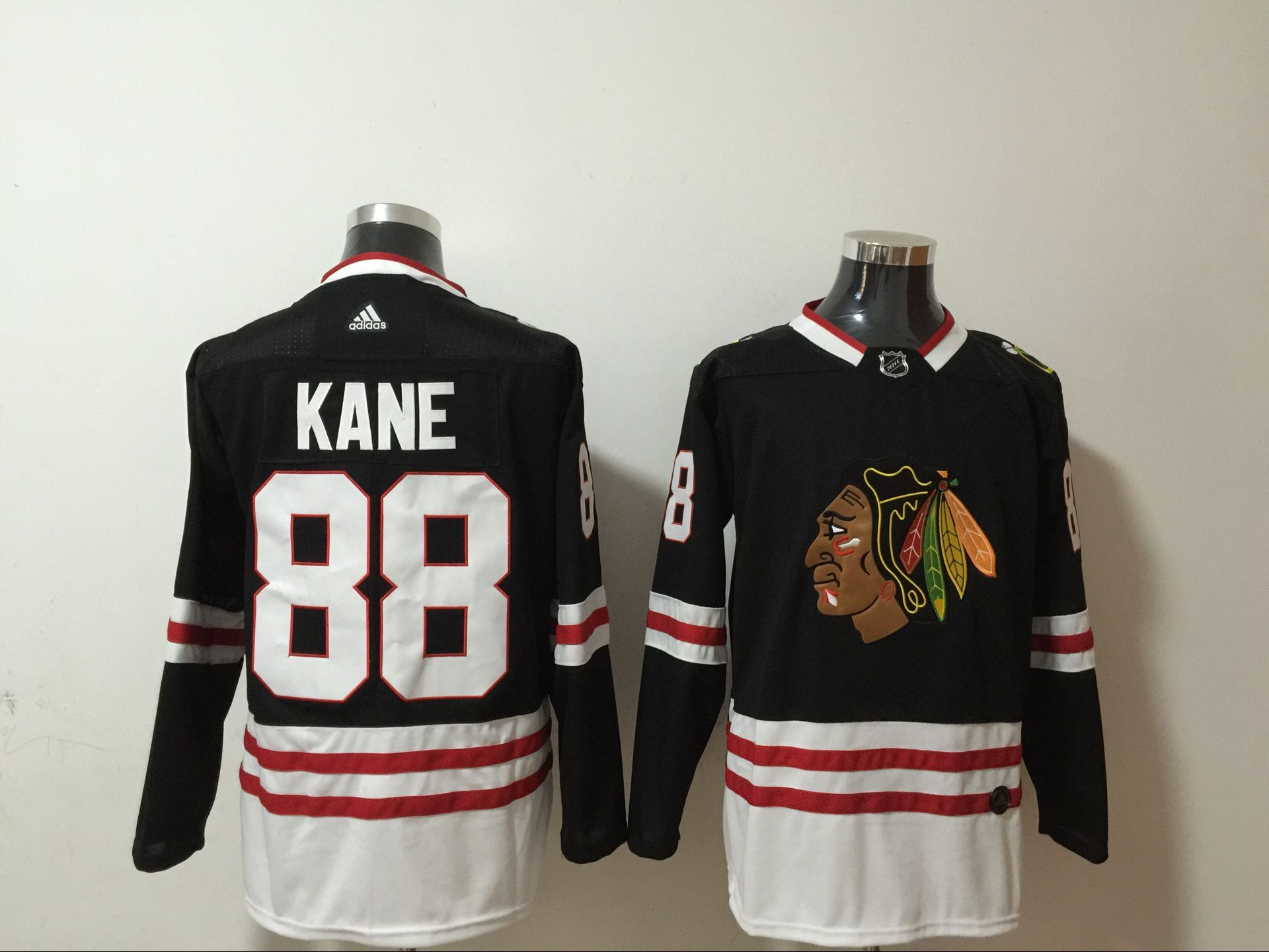Wholesale Chicago Blackhawks 88 Kane Men Adidas 2020 black Stitched NHL Jersey