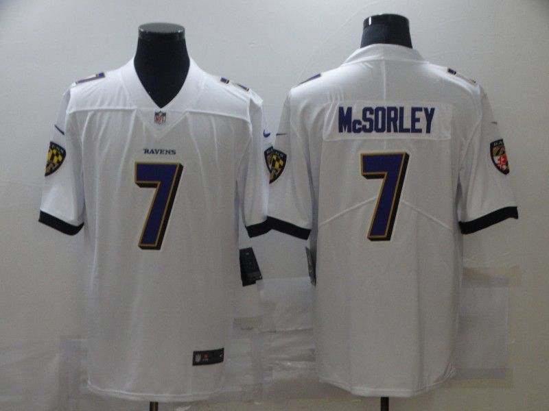 Wholesale Men Baltimore Ravens 7 Mcsorley White Nike Limited Vapor Untouchable NFL Jerseys