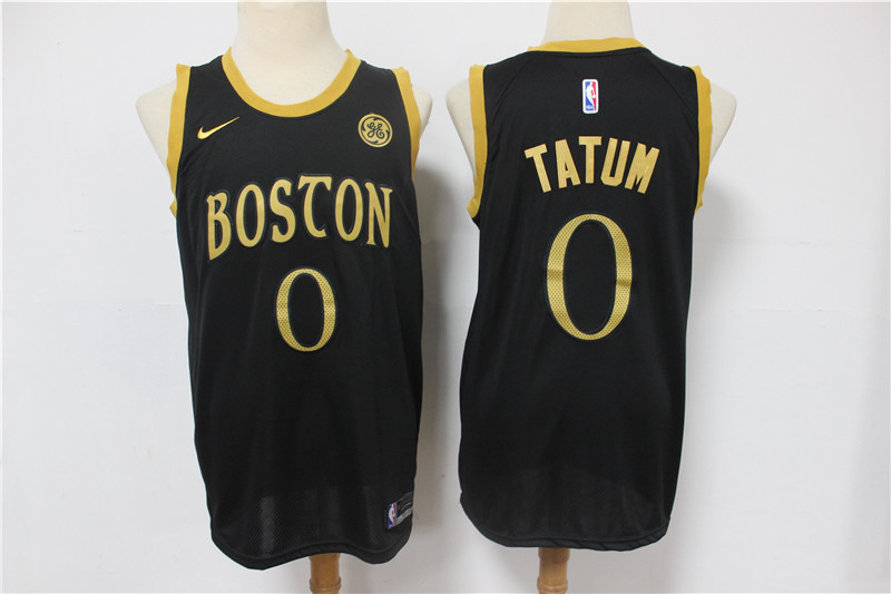 Wholesale Men Boston Celtics 0 Tatum Black Nike City Edition NBA Jerseys
