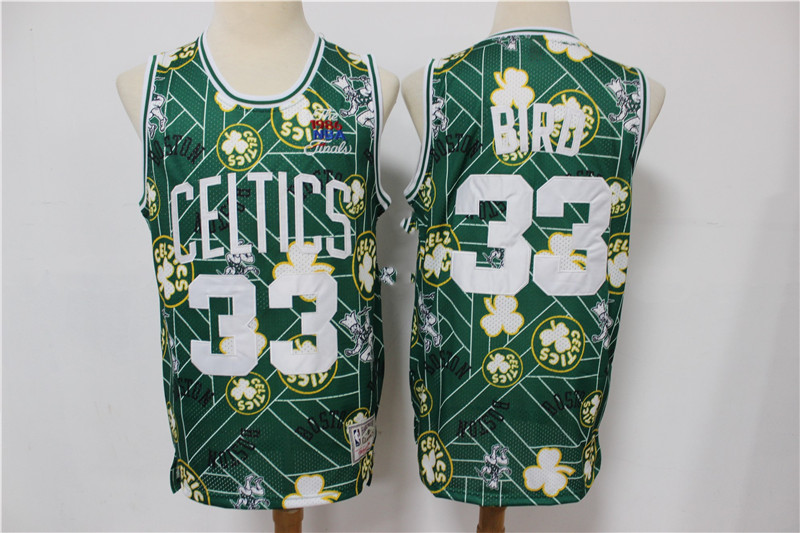 Wholesale Men Boston Celtics 33 Bird Green limited Throwback Adidas NBA Jersey Print