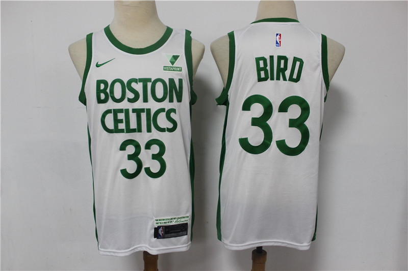 Wholesale Men Boston Celtics 33 Bird white Stitched NBA Jersey