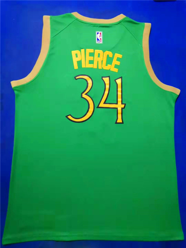 Wholesale Men Boston Celtics 34 Pierce Green Nike City Edition NBA Jerseys