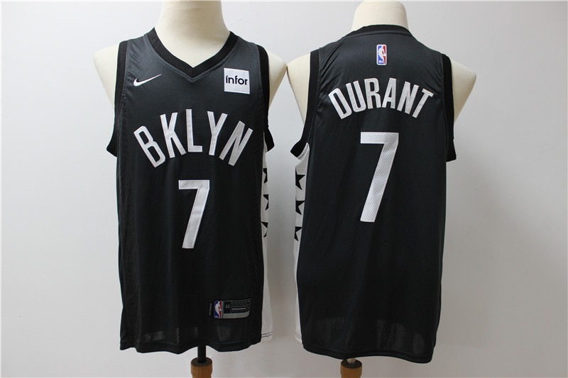 Cheap Men Brooklyn Nets 7 Durant black Home Stitched NBA Jersey 2