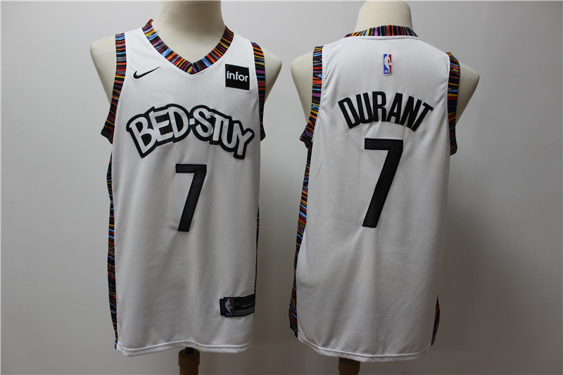 Cheap Men Brooklyn Nets 7 Durant white Home Stitched NBA Jersey 3