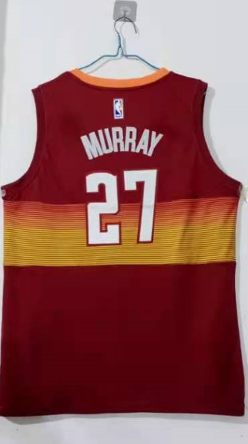 Wholesale Men Denver Nuggets 27 Murray red Game Nike NBA Jerseys