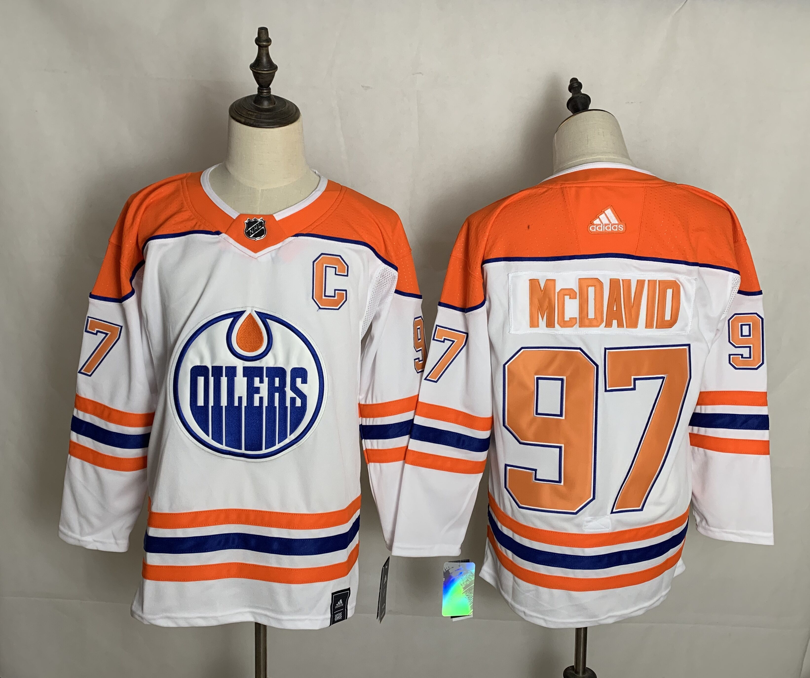 Cheap Men Edmonton Oilers 97 Mcdavid White Authentic Stitched 2020 Adidias NHL Jersey