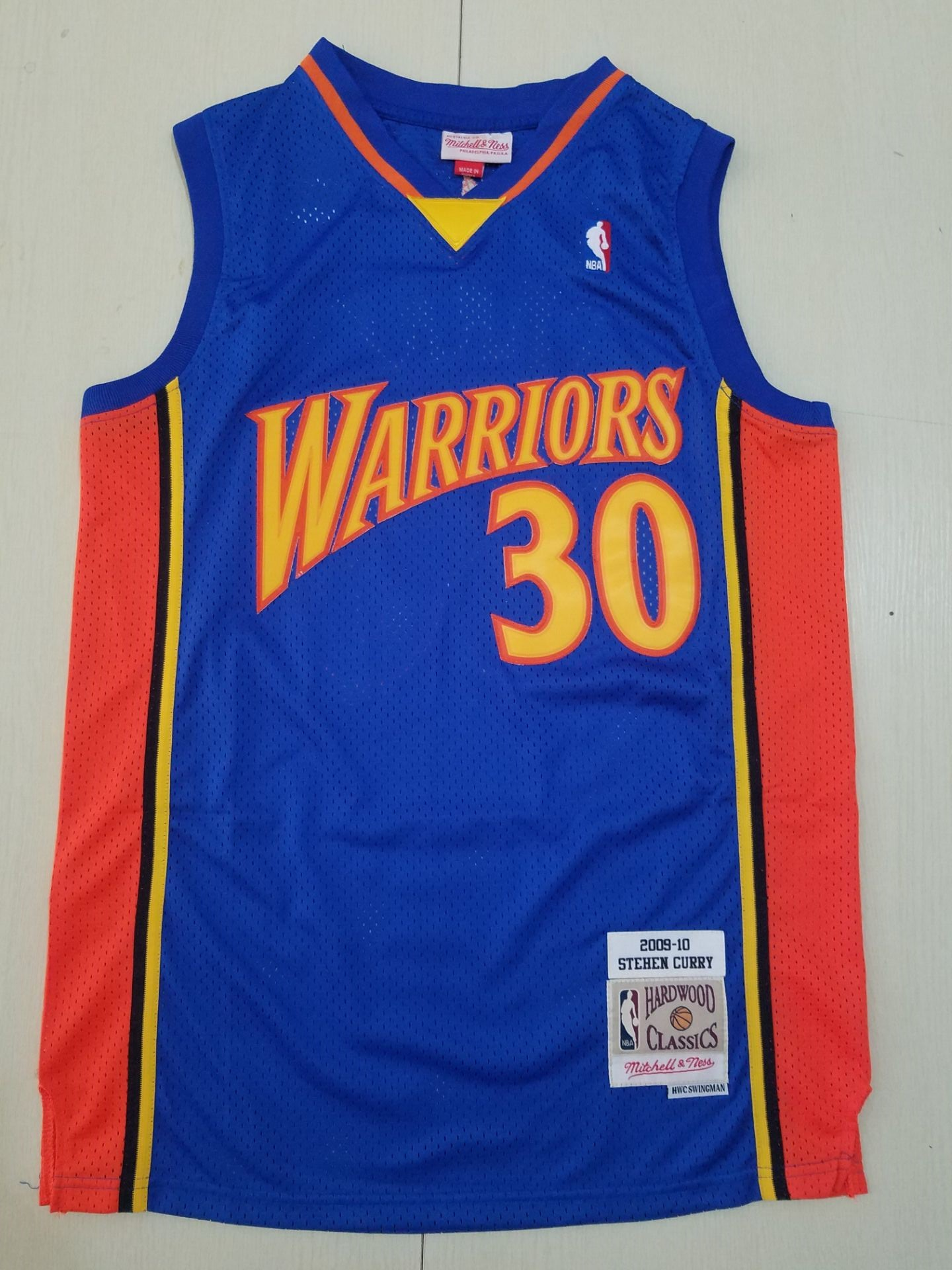 Wholesale Men Golden State Warriors 30 Curry Game blue throwback Nike NBA Jerseys