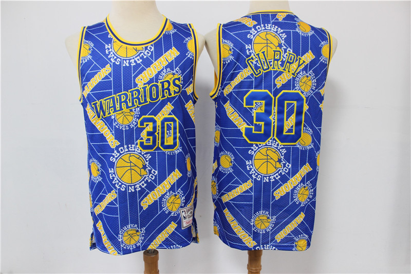 Wholesale Men Golden State Warriors 30 Curry limited blue new Nike NBA Jerseys Print
