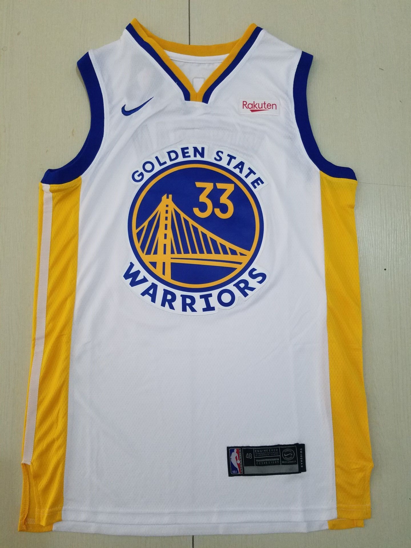 Wholesale Men Golden State Warriors 33 Wiseman white new Nike NBA Jerseys