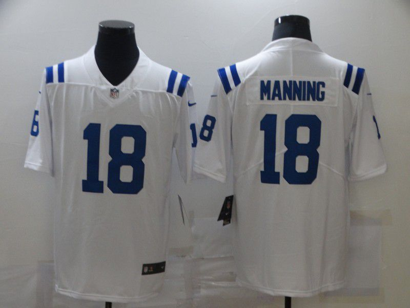Wholesale Men Indianapolis Colts 18 Manning White Nike Limited Vapor Untouchable NFL Jerseys