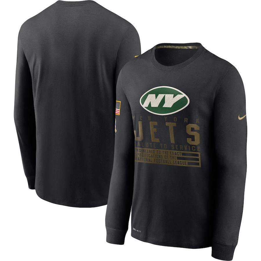 Wholesale Men NFL New York Jets T Shirt Nike Olive Salute To Service Green