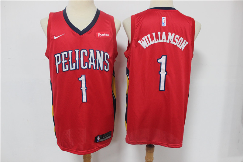 Wholesale Men New Orleans Pelicans 1 Williamson Red Nike Game NBA Jerseys