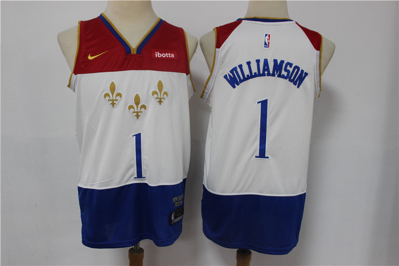 Wholesale Men New Orleans Pelicans 1 Williamson White Nike City Edition NBA Jerseys