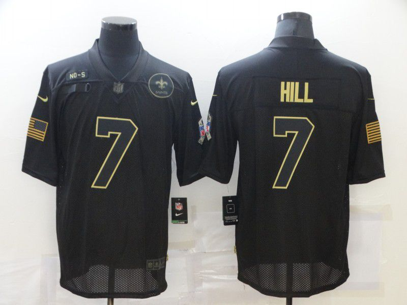 Wholesale Men New Orleans Saints 7 Hill Black Nike Limited Vapor Untouchable NFL Jerseys
