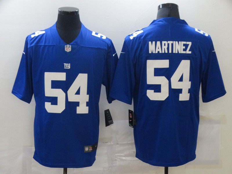 Cheap Men New York Giants 54 Martinez Blue Nike Limited Vapor Untouchable NFL Jerseys