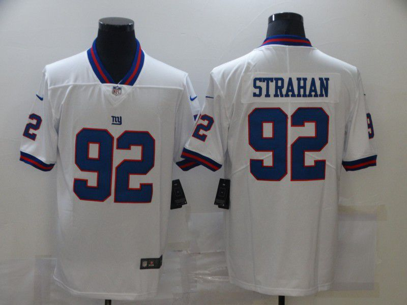 Cheap Men New York Giants 92 Strahan White Nike Limited Vapor Untouchable NFL Jerseys