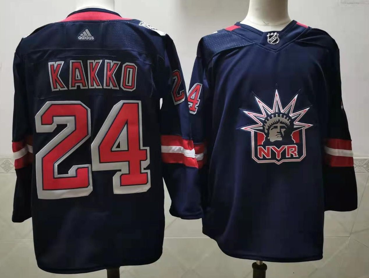Cheap Men New York Rangers 24 Kakko Navy Authentic Stitched 2020 Adidias NHL Jersey
