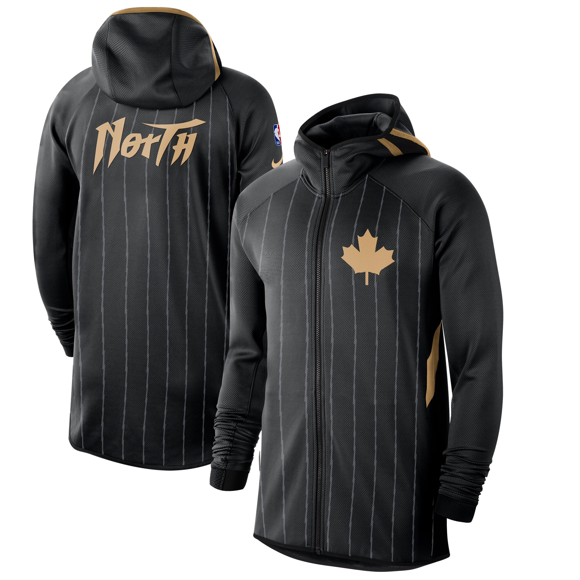 Cheap Men Nike Toronto Raptors Black Anthracite 201920 Earned Edition Showtime FullZip Performance Hoodie
