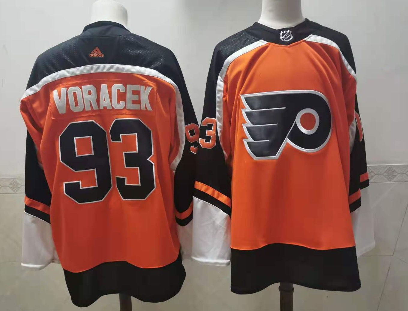 Wholesale Men Philadelphia Flyers 93 Voracek orange Adidas Fashion NHL Jersey