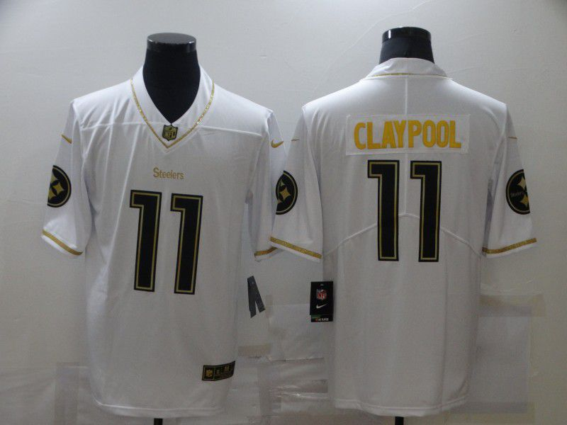 Wholesale Men Pittsburgh Steelers 11 Claypool White Nike Limited Vapor Untouchable NFL Jerseys