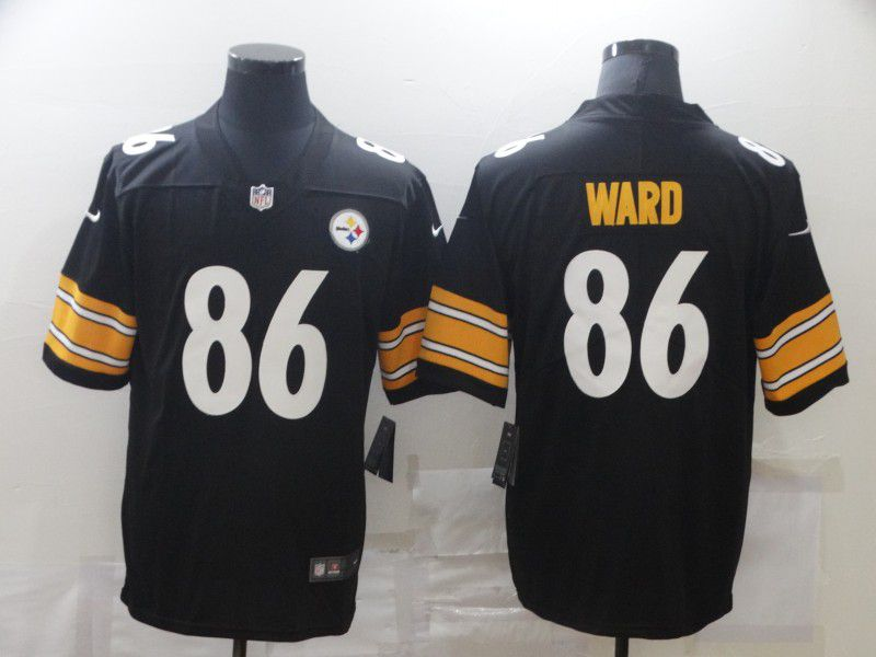 Wholesale Men Pittsburgh Steelers 86 Ward Black Nike Limited Vapor Untouchable NFL Jerseys