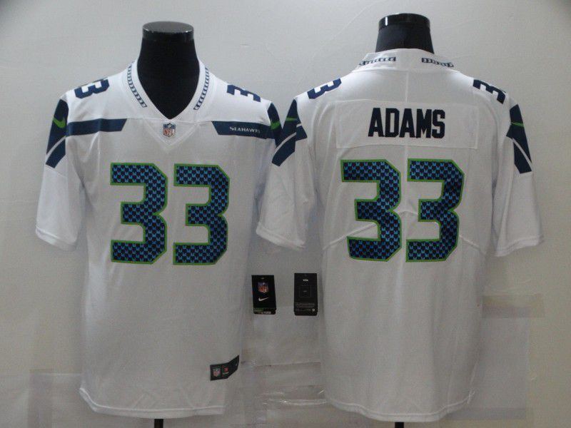 Wholesale Men Seattle Seahawks 33 Adams White Nike Limited Vapor Untouchable NFL Jerseys
