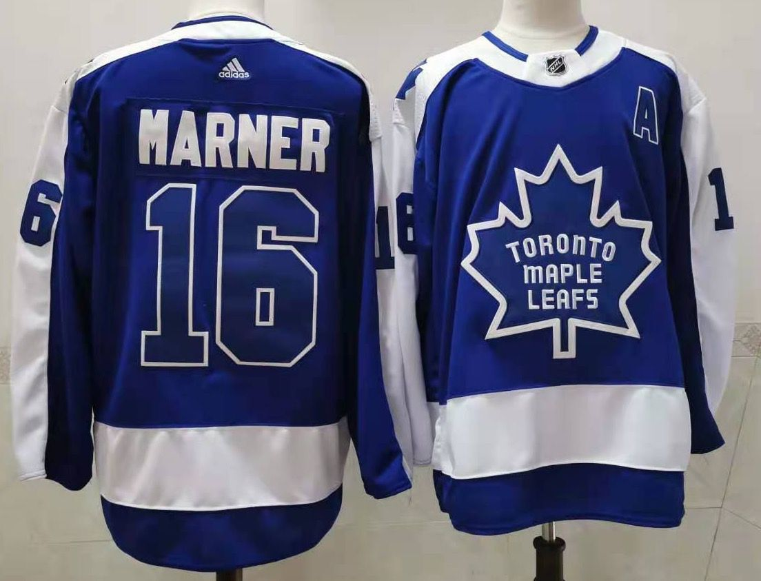 Cheap Men Toronto Maple Leafs 16 Marner Throwback Authentic Stitched 2020 Adidias NHL Jersey
