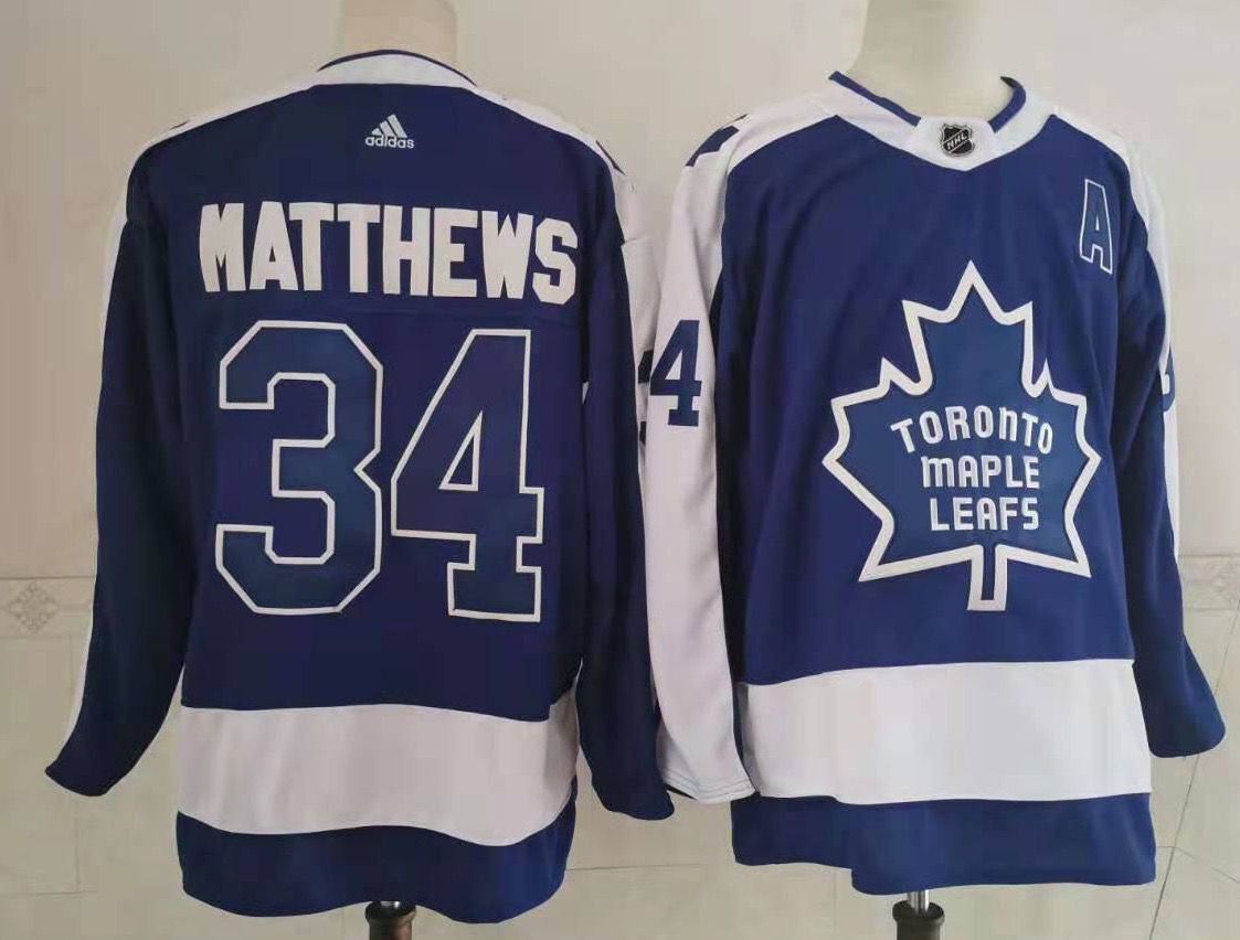 Cheap Men Toronto Maple Leafs 34 Matthews Throwback Authentic Stitched 2020 Adidias NHL Jersey