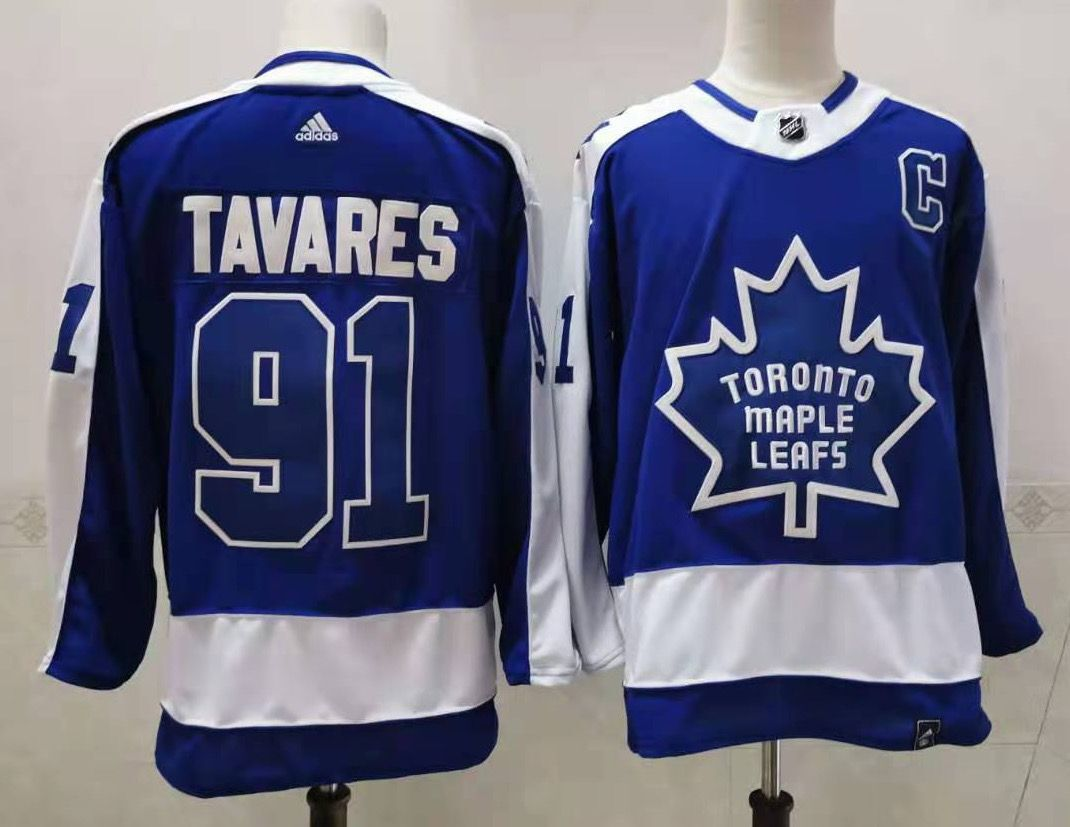 Cheap Men Toronto Maple Leafs 91 Tavares Throwback Authentic Stitched 2020 Adidias NHL Jersey