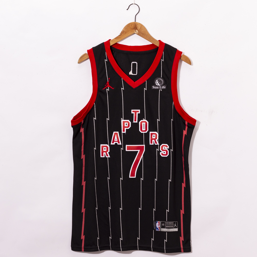 Cheap Men Toronto Raptors 7 Lowry Black Game NBA Jerseys