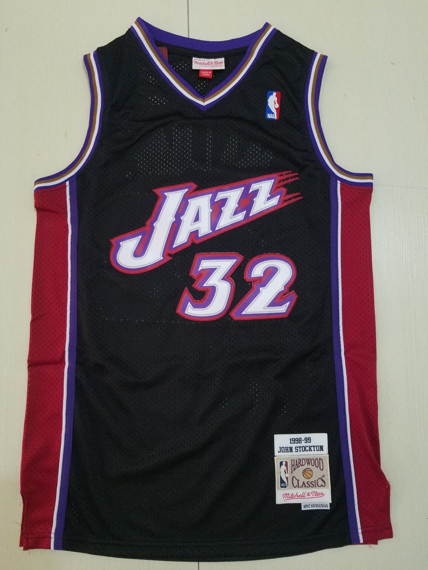 Cheap Men Utah Jazz 32 Malone black Throwback NBA Jerseys