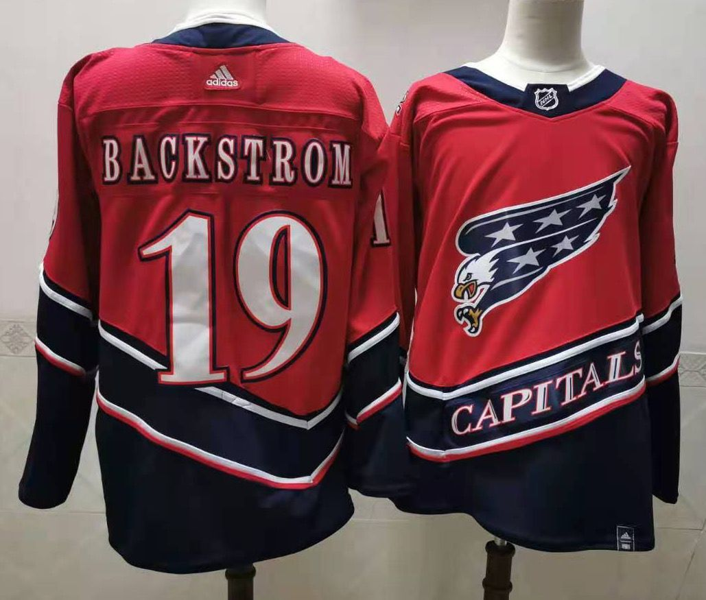Cheap Men Washington Capitals 19 Backstrom Red Throwback Authentic Stitched 2020 Adidias NHL Jersey