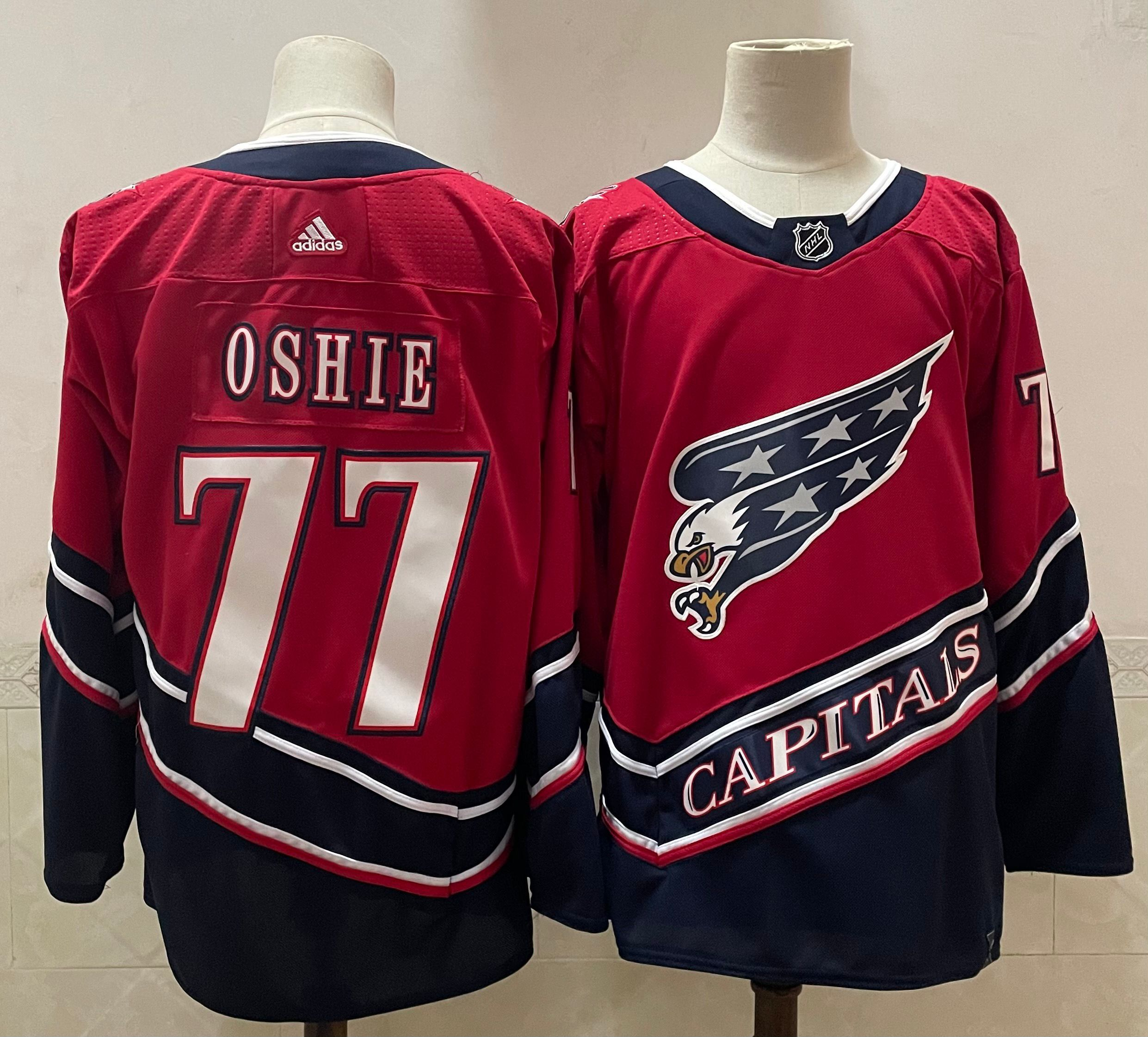 Cheap Men Washington Capitals 77 Oshie Red Throwback Authentic Stitched 2020 Adidias NHL Jersey