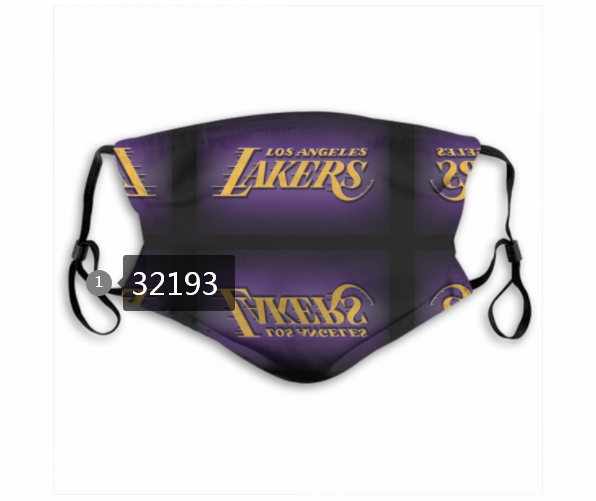 Wholesale NBA 2020 Los Angeles Lakers31 Dust mask with filter
